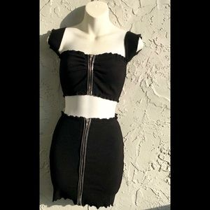 Hot & Delicious Top & Skirt Set Sz Small NWT